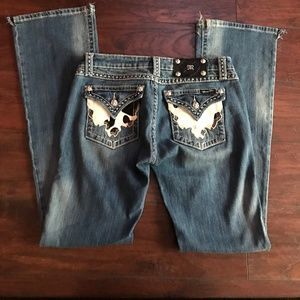 MISS ME WOMENS BOOT CUT JEANS SZ 28